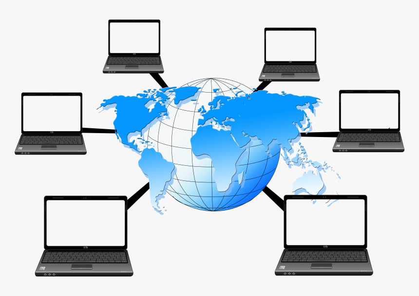 Transparent Computer Network Clipart - Computer Network Transparent Background, HD Png Download, Free Download