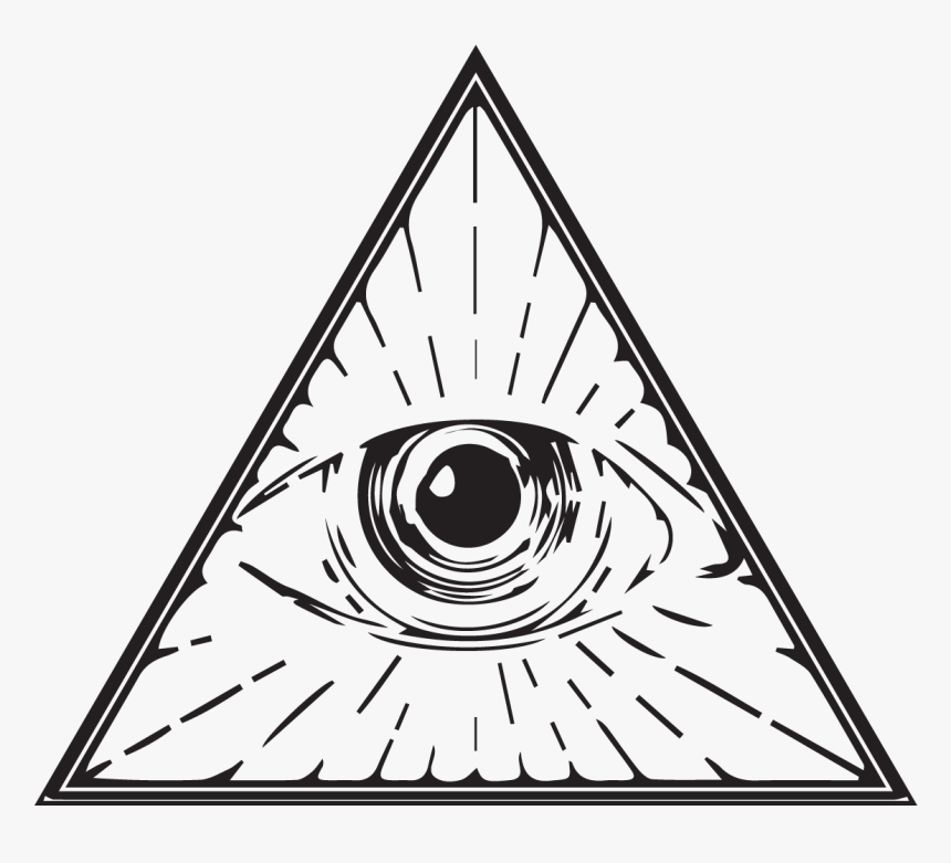 Eye Of Providence Illuminati Drawing Clip Art - Eye Of Providence Png, Transparent Png, Free Download