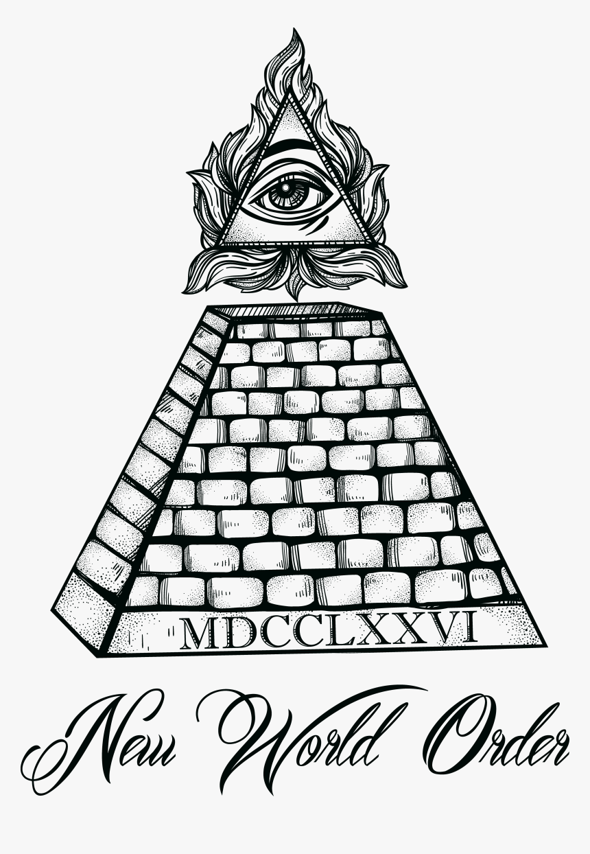 Transparent Triangle Eye Png - All Seeing Eye Pyramid Tattoo Designs, Png Download, Free Download