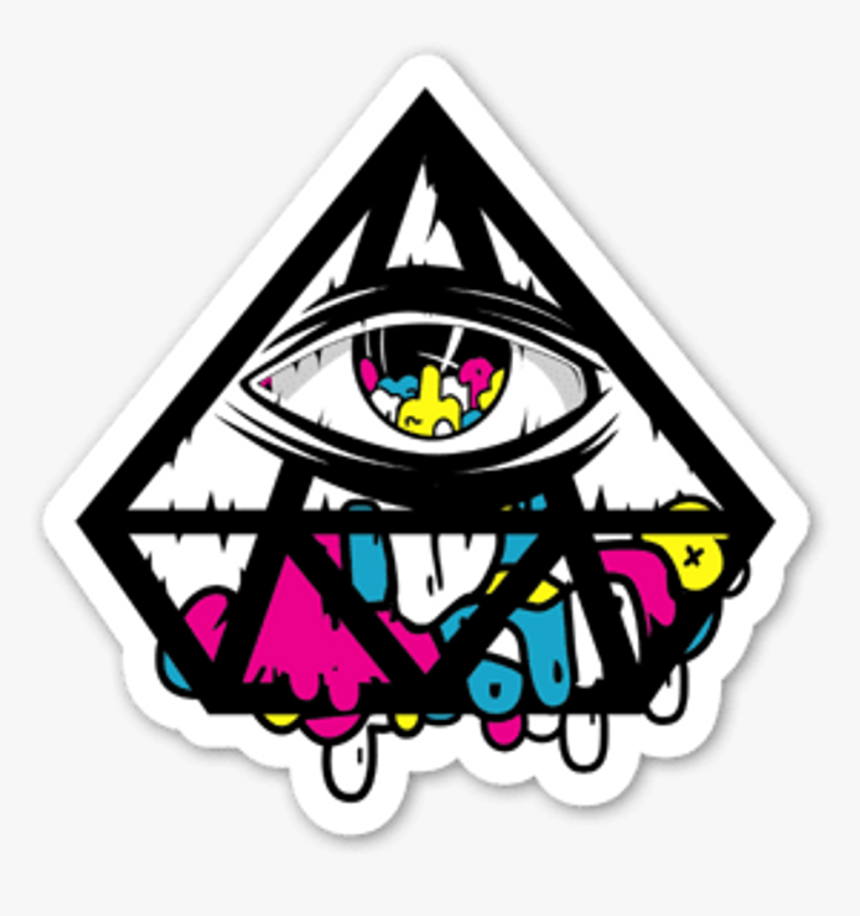 Triangle Clipart Trippy - Imagenes Del Ojo Illuminati, HD Png Download, Free Download