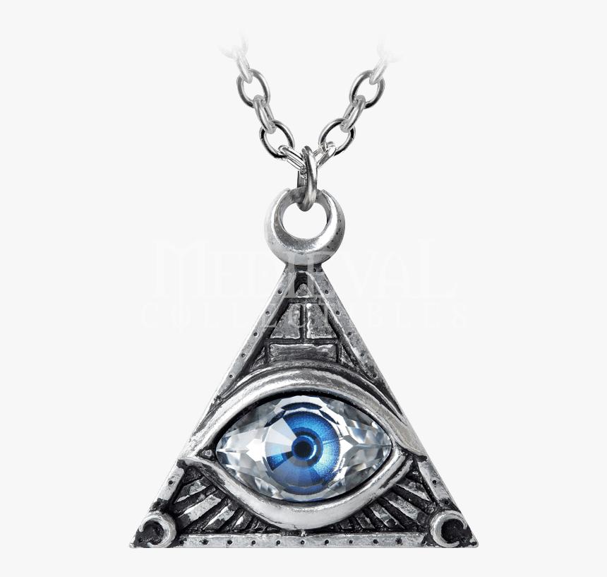 Transparent Triangle Eye Png - Illuminati Eye Locket, Png Download, Free Download