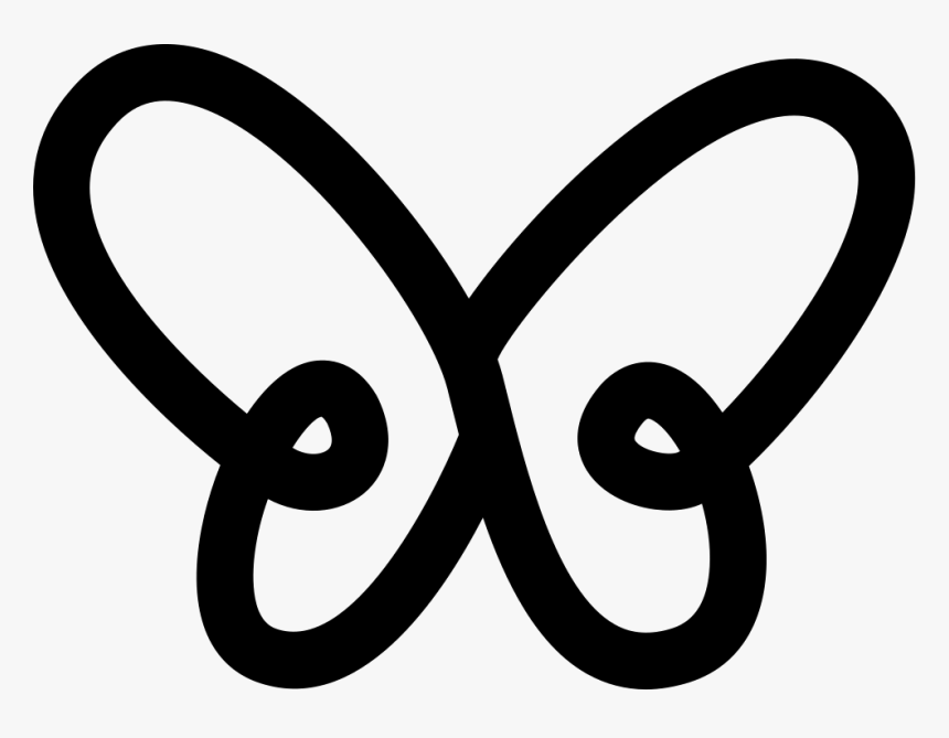 Butterfly Simple Gross Outline Shape From Top View - Macka's Logo, HD Png Download, Free Download