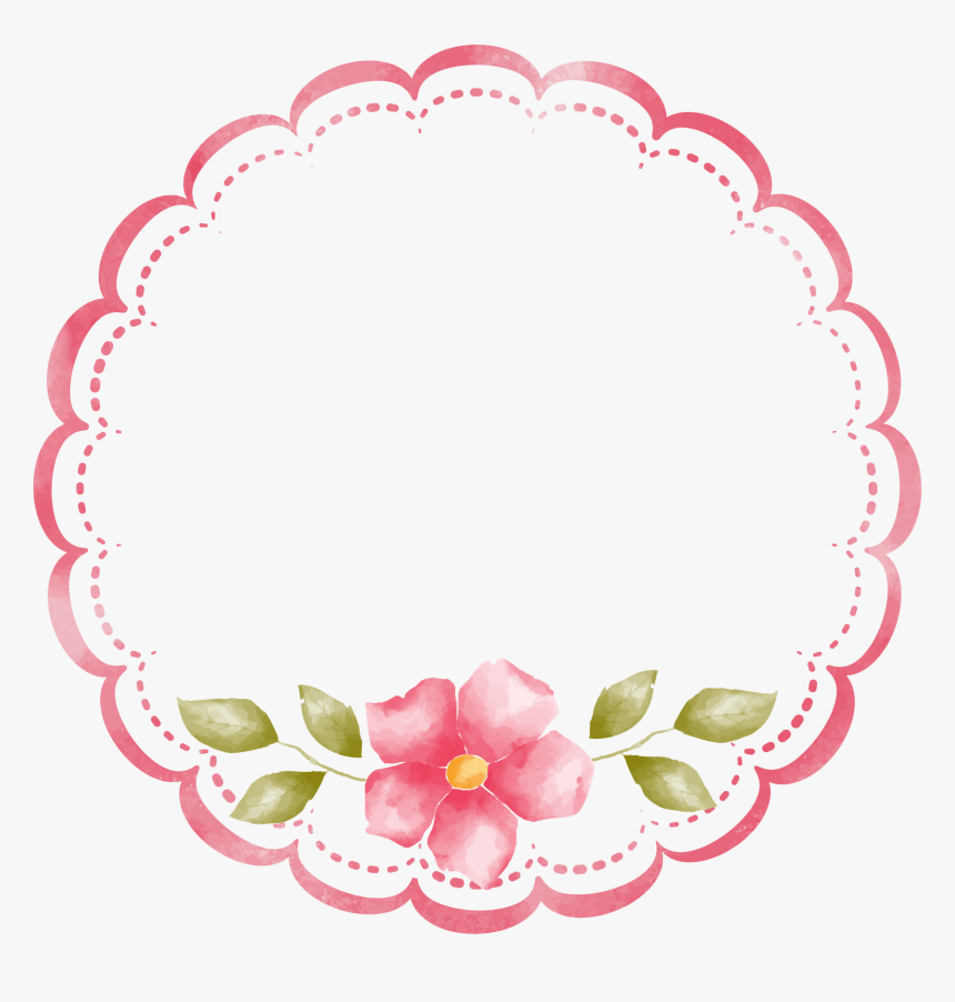 Decorative Round Border Frame Png Clip Art Gallery - Round Flower Frame Png, Transparent Png, Free Download