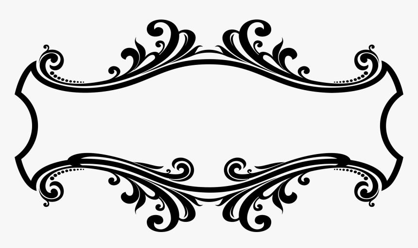 Decorative Ornamental Flourish Frame Design Icons Png - Border Design Black And White, Transparent Png, Free Download