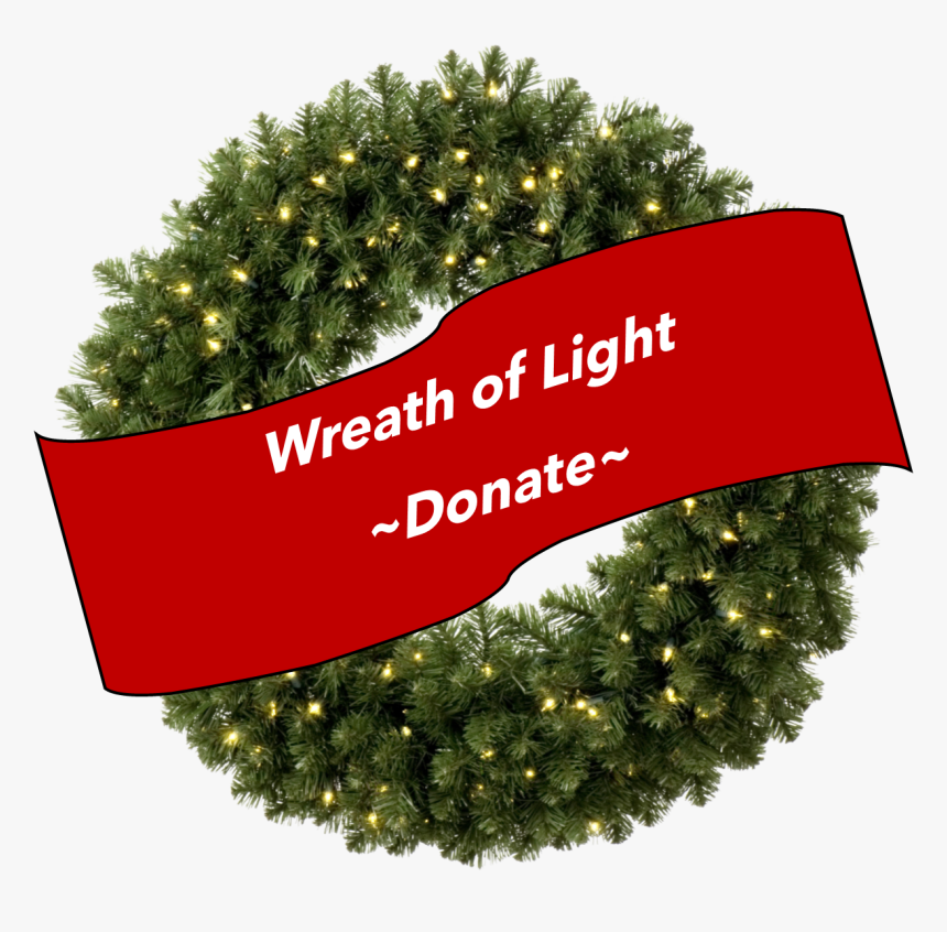 Christmas Png Wreath Wreath Of Light Denver Youth For - Transparent Background Christmas Wreath Png, Png Download, Free Download