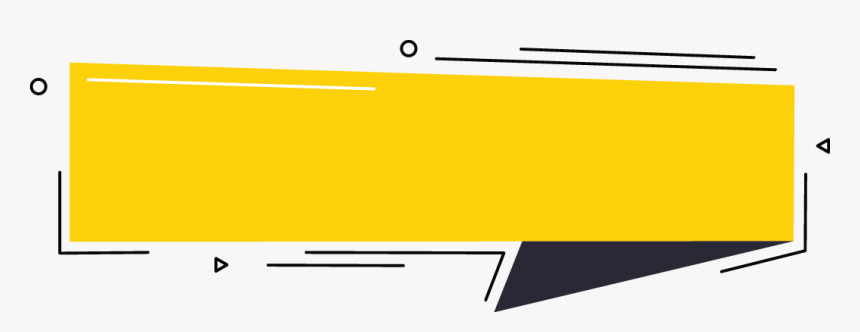 Download Yellow Banner With Black Down Right Abstract - Banner Yellow Png, Transparent Png, Free Download