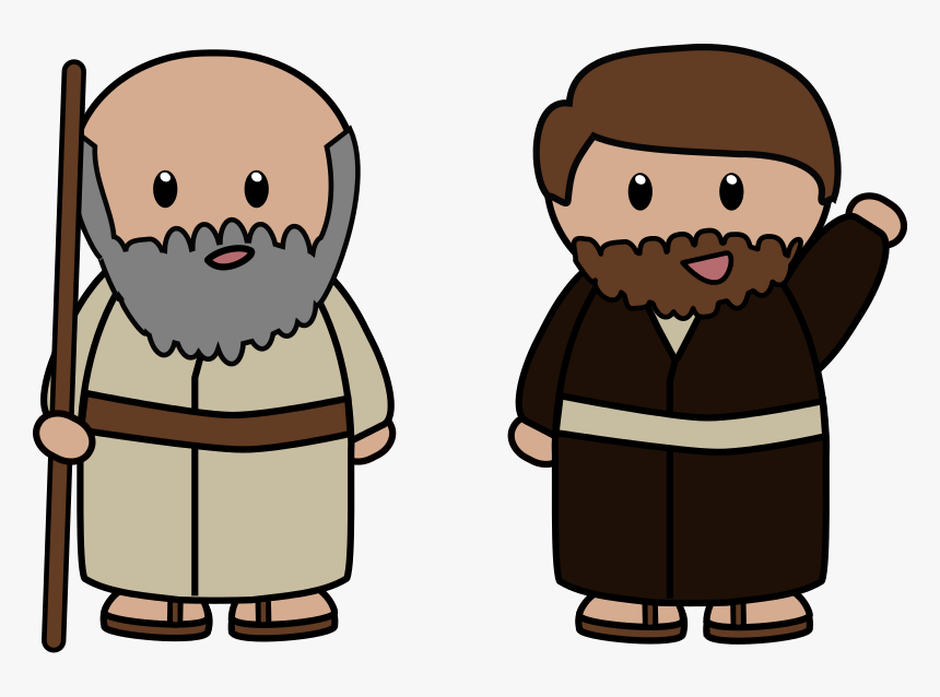 Disciple Face Cliparts - Peter The Apostle Cartoon, HD Png Download, Free Download