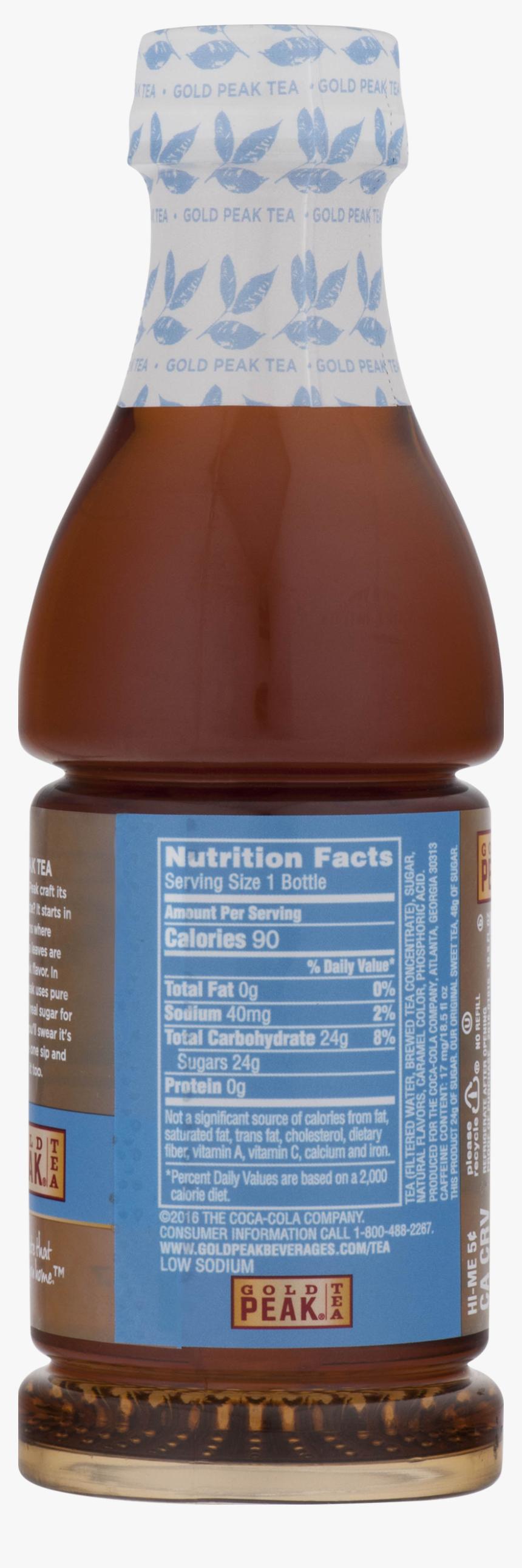 Gold Peak Sweet Tea Nutrition Label, HD