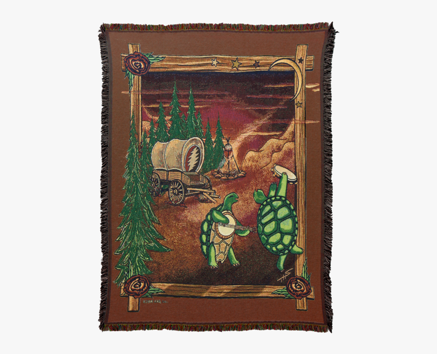 Woven Cotton Blanket With Two Terrapin Turtles Dancing, - Grateful Dead Characters, HD Png Download, Free Download