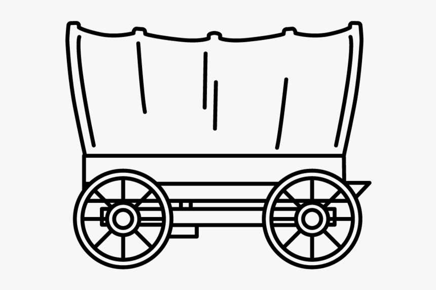 Wagon Clipart Little Red Wagon - Black And White Wagon Clipart, HD Png Download, Free Download