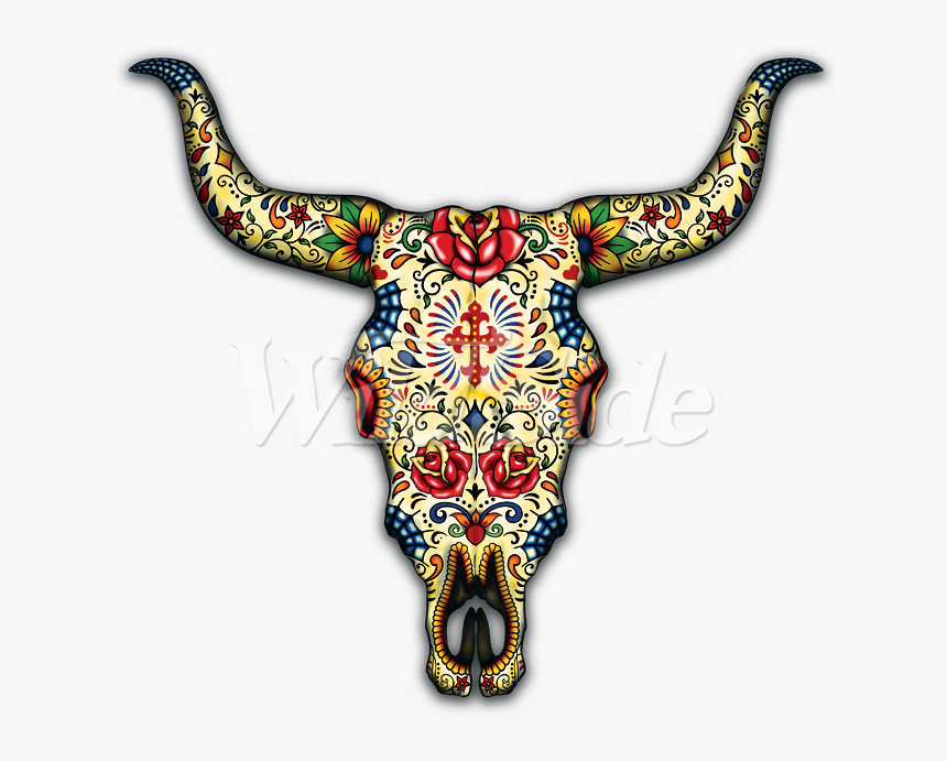 Transparent Bull Skull Png - Day Of The Dead Animals, Png Download, Free Download