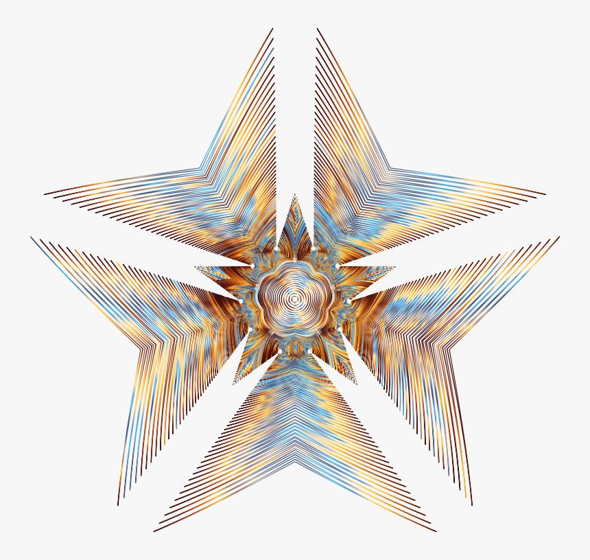Prismatic Star Line Art No Background - Line Art, HD Png Download, Free Download