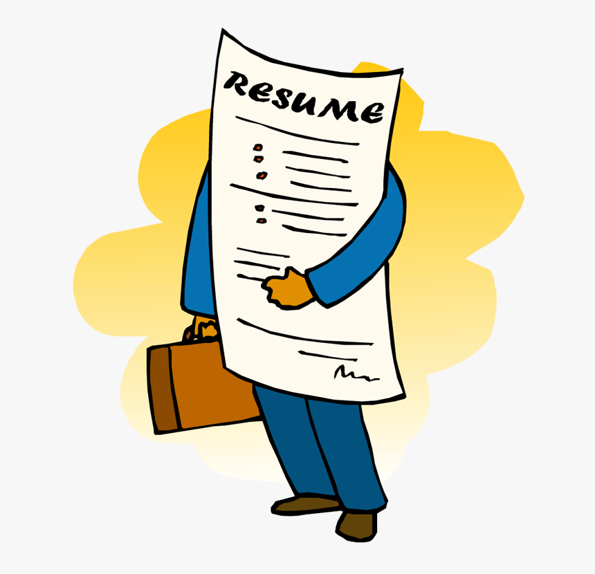 Resume Working For You Applying For A Job Clipart Hd Png Download Kindpng