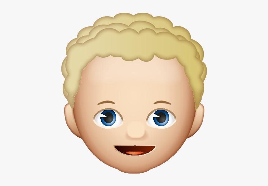 Emoji Curly Hair Boy Hd Png Download Kindpng
