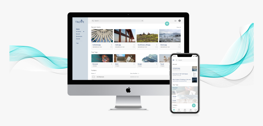 Trove Product Shot Of Dashboard - Web Design Marketing Gif, HD Png Download, Free Download