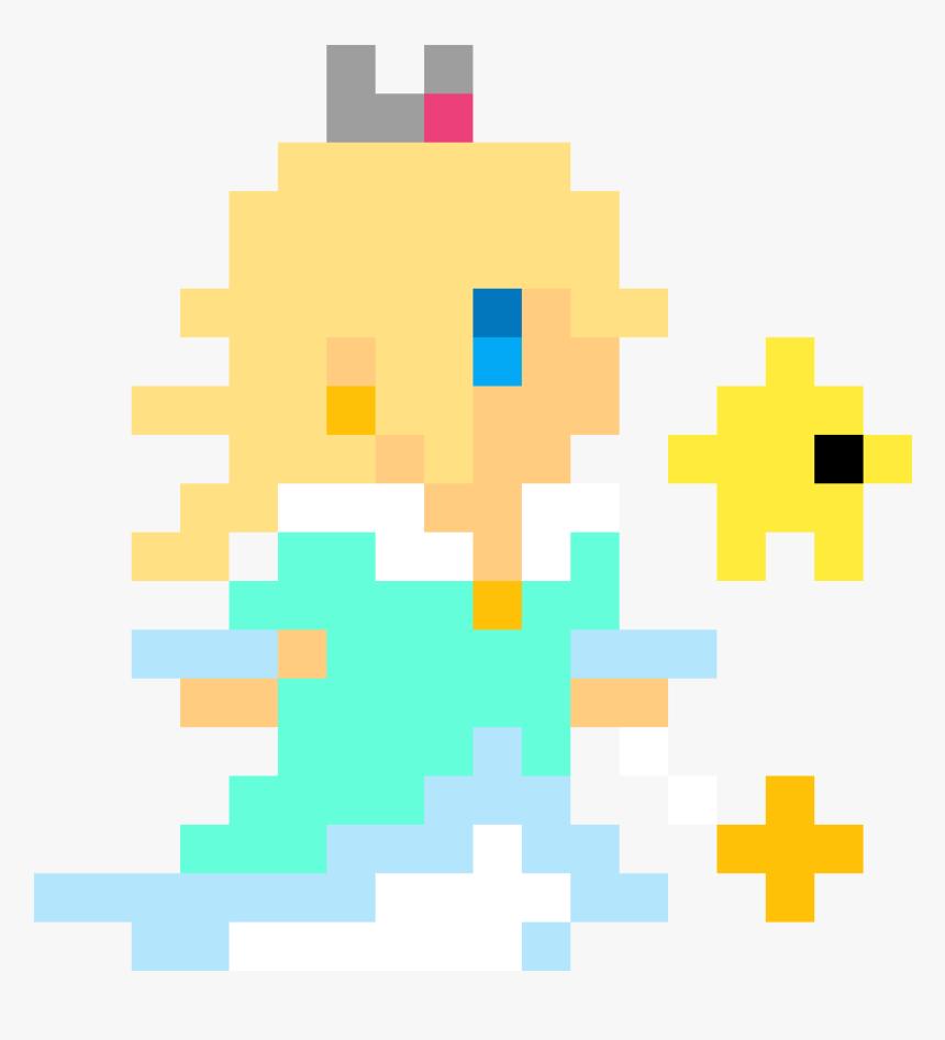 Rosalina And Luma Pixel Art Hd Png Download Rosalina And