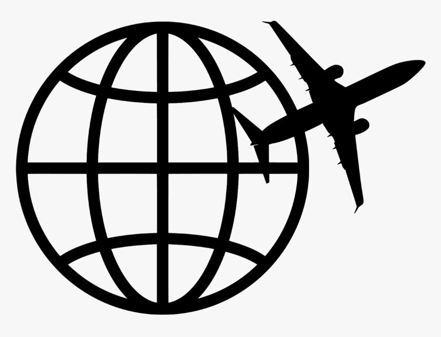 Travel Logo Airplane World Icon Trip Agency Icon Vector