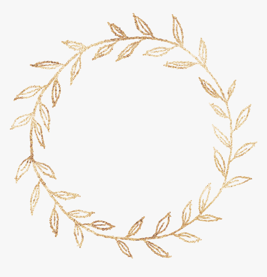 #golden #gold #circles #corcle #round #roundborders - Golden Circle Glitter Png, Transparent Png, Free Download