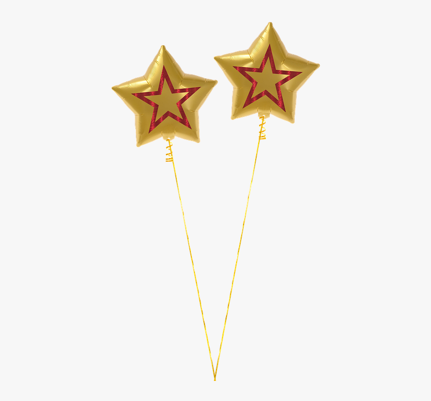Balloon, Star, Gold, Isolated, Christmas, Birthday - Globos De Estrella Png, Transparent Png, Free Download