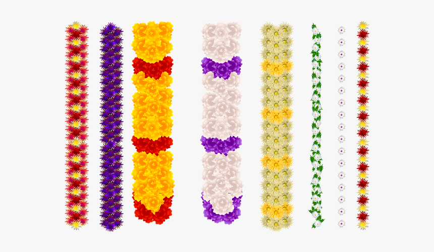 Indian Flower Garland Vector, HD Png Download, Free Download