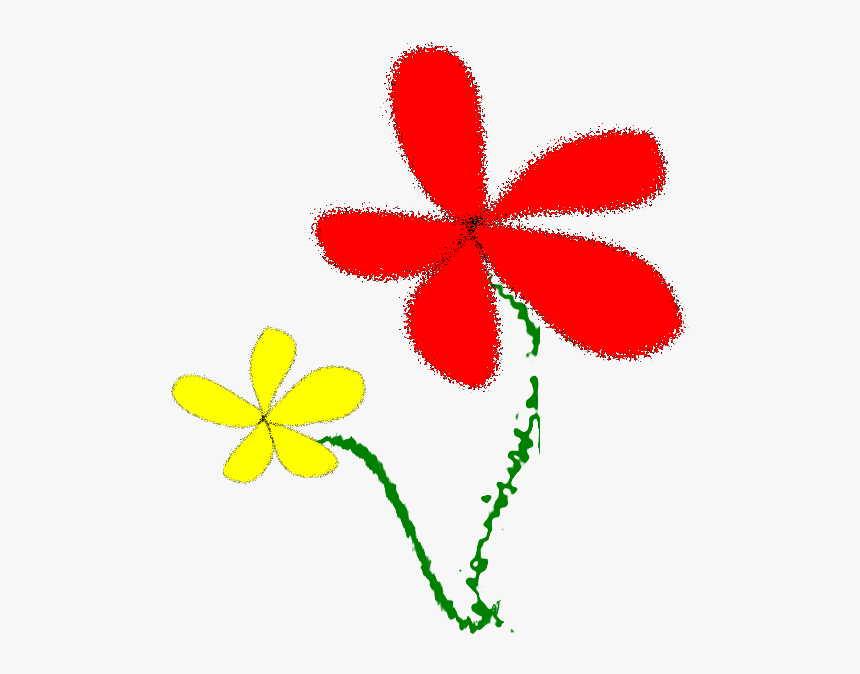Flowers, Yellow And Red - ดอกไม้ กราฟฟิก สี แดง, HD Png Download, Free Download