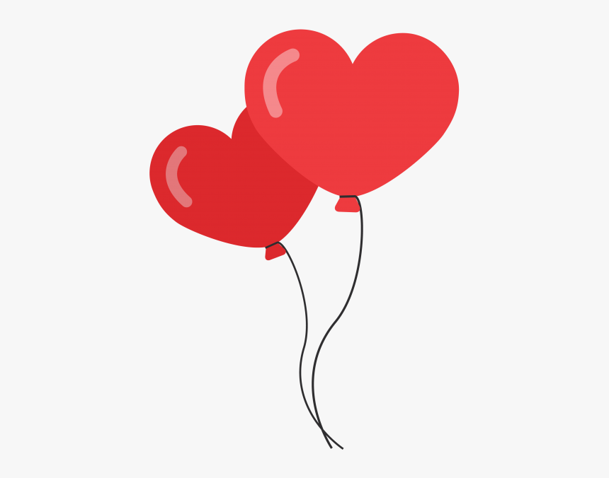 Heart Balloons Vector Png, Transparent Png, Free Download