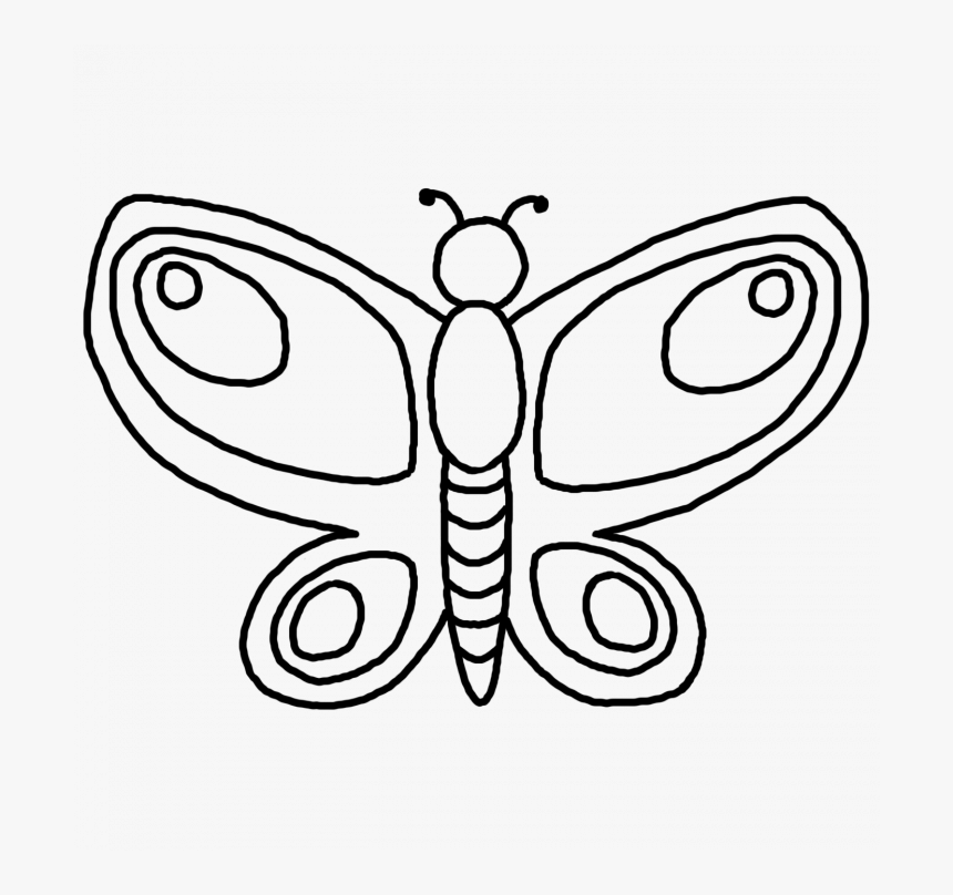 New Butterfly To Color Cool Ideas Unknown Resolutions - Colour By Numbers In French, HD Png Download, Free Download