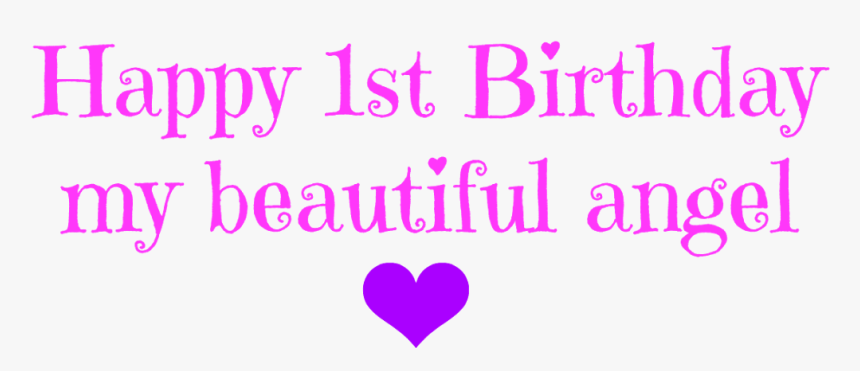 Happy Birthday Angel - Heart, HD Png Download, Free Download