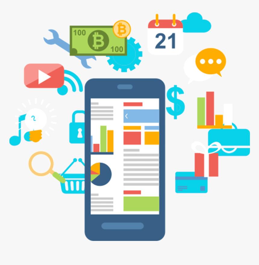Mobile App Development - Social Media Marketing Vector Png, Transparent Png, Free Download
