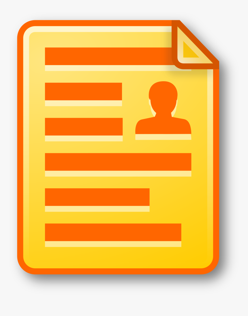 This Free Icons Png Design Of Icon Document Yellow - Yellow Document Icon, Transparent Png, Free Download