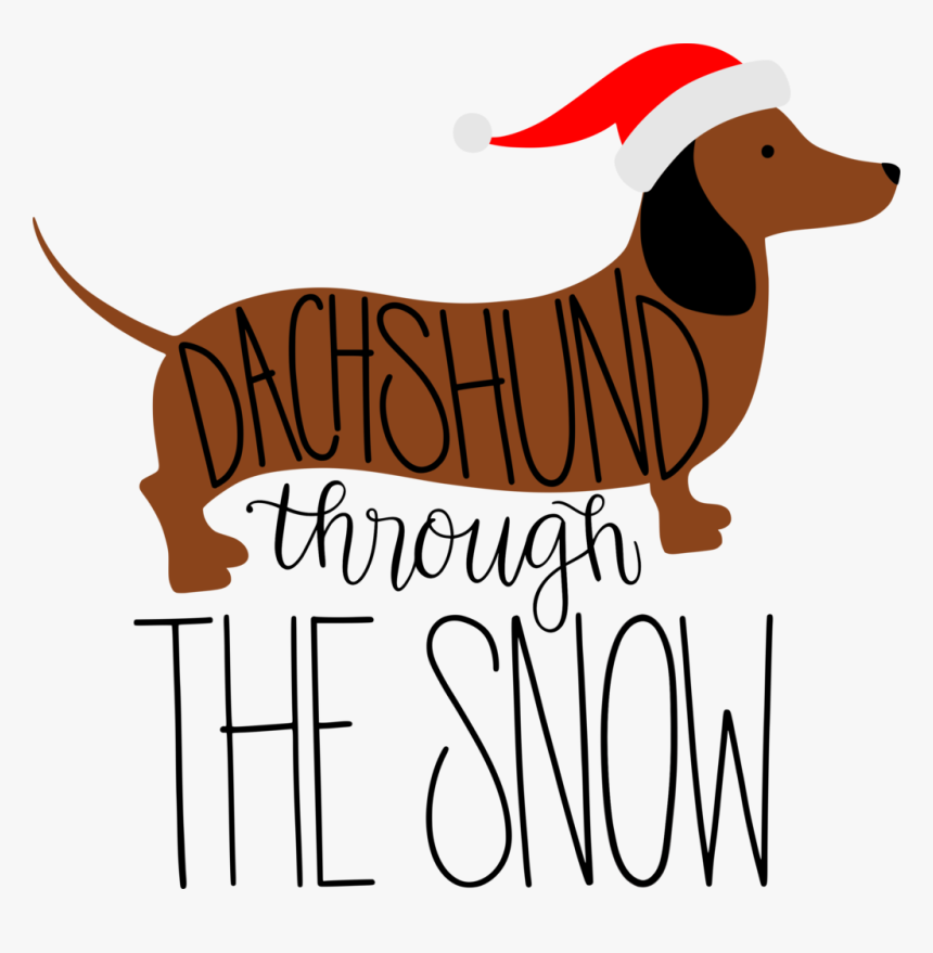 Clip Art Dachshund Png Download - Christmas Weiner Dog Clipart, Transparent Png, Free Download