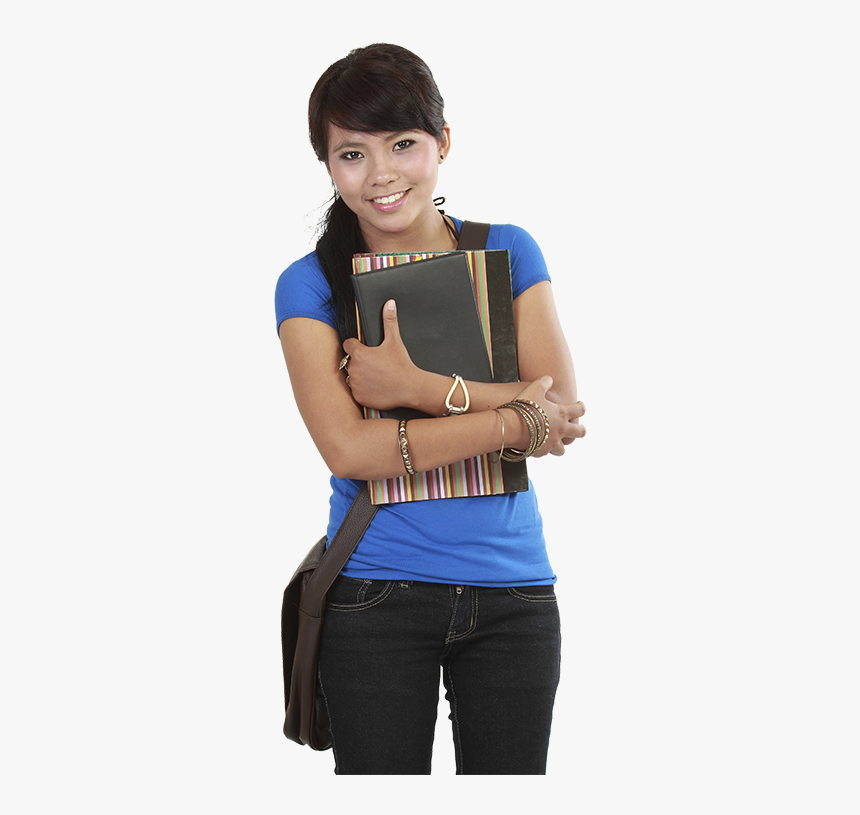 Girl With Books Hd, HD Png Download, Free Download