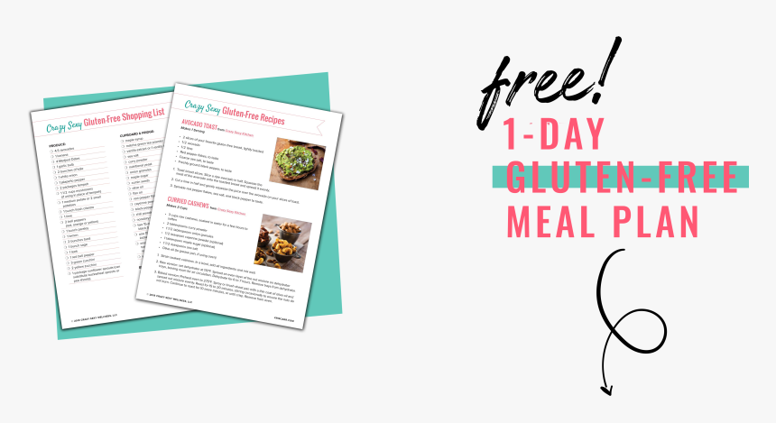 Free 1-day Gluten Free Meal Plan - Graphic Design, HD Png Download, Free Download