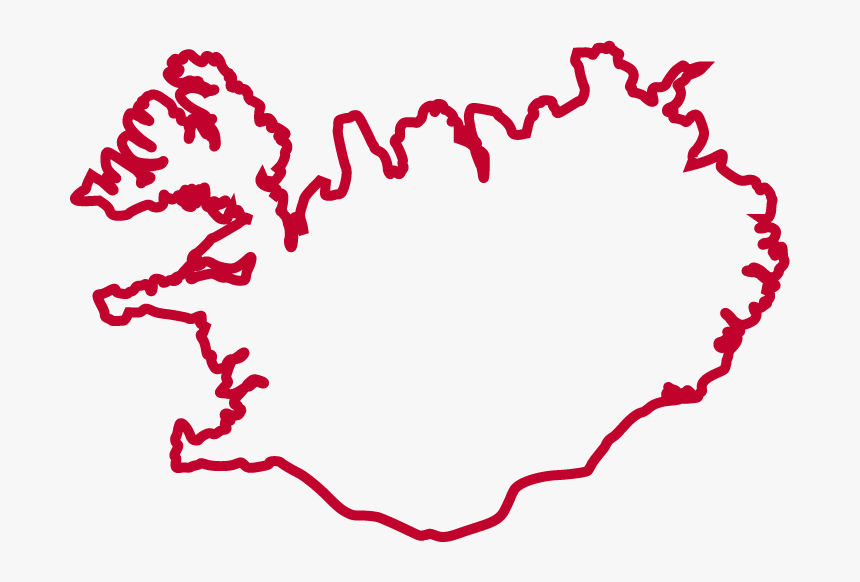 Iceland Map For Draw, HD Png Download, Free Download