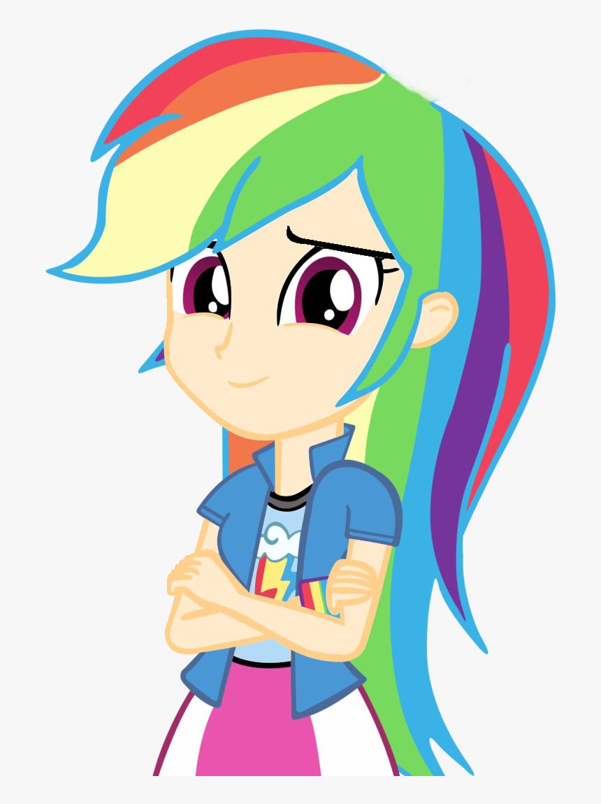 Imagenes De My Little Pony Rainbow Dash Sin Pelo Clipart - My Little Pony Rainbow Dash Human, HD Png Download, Free Download