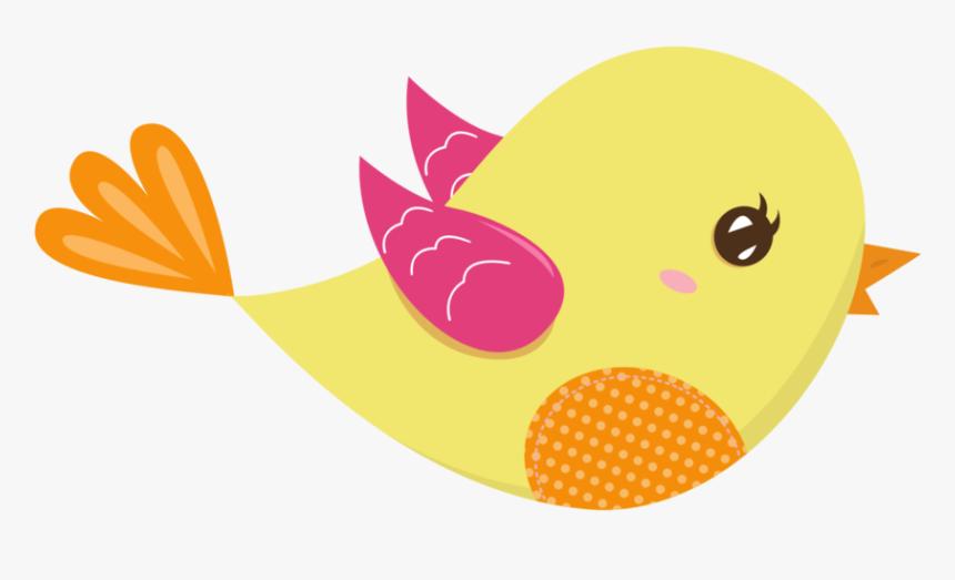 Pink And Yellow Birds Passarinhos Desenhos Hd Png Download