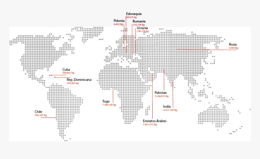 El Reciclaje Actual De La Ropa Usada - Electricity Consumption World Map, HD Png Download, Free Download