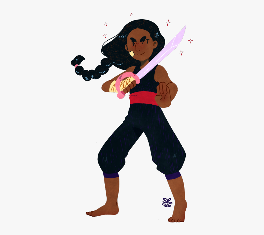 Mystuff Steven Universe Steven Universe Spoilers Connie Cosplay Connie S Sword Hd Png Download Kindpng