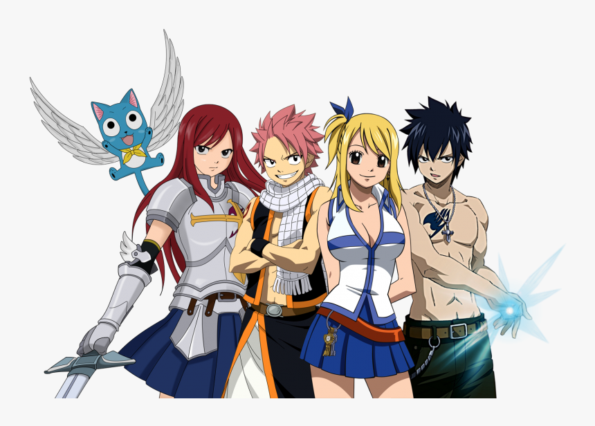 Download Fairy Tail Png Free Download For Designing - Fairy Tail Natsu Lucy Gray Erza, Transparent Png, Free Download