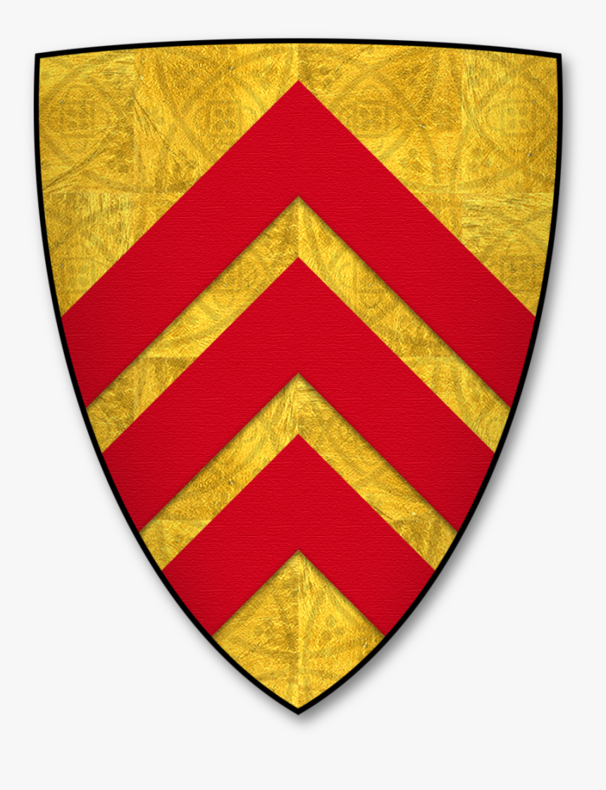 """Parliamentary Roll Shield 0002 """"le Counte De Gloucestre - De Clare Coat Of Arms, HD Png Download, Free Download"""