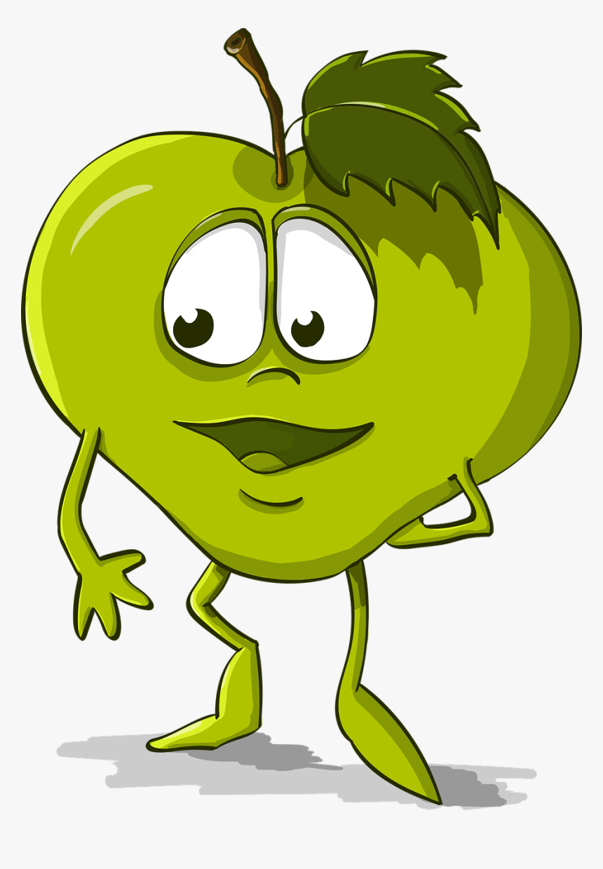 Apple Funny Kindness Free Gambar Apel Kartun Lucu