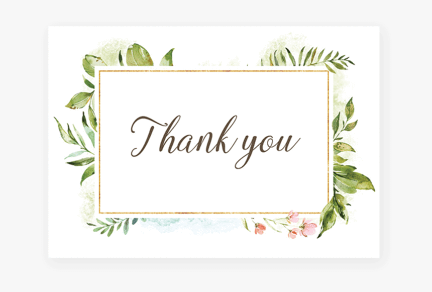 Thank You Card Templates Free Download - Savvy