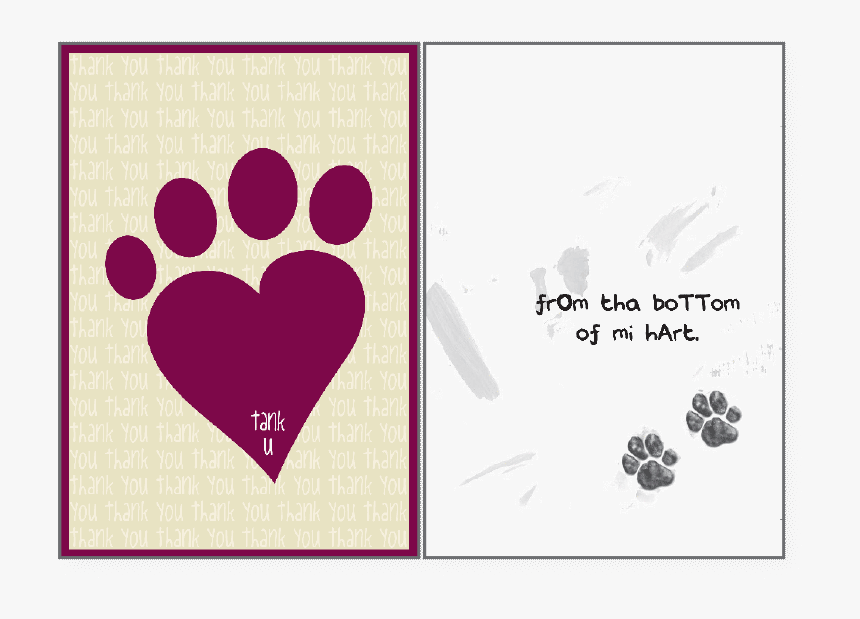"""Bottom Of Mi Hart""""  Class=""""lazyload Blur Up""""  Style=""""width - Thank You Card From Dog, HD Png Download, Free Download"""