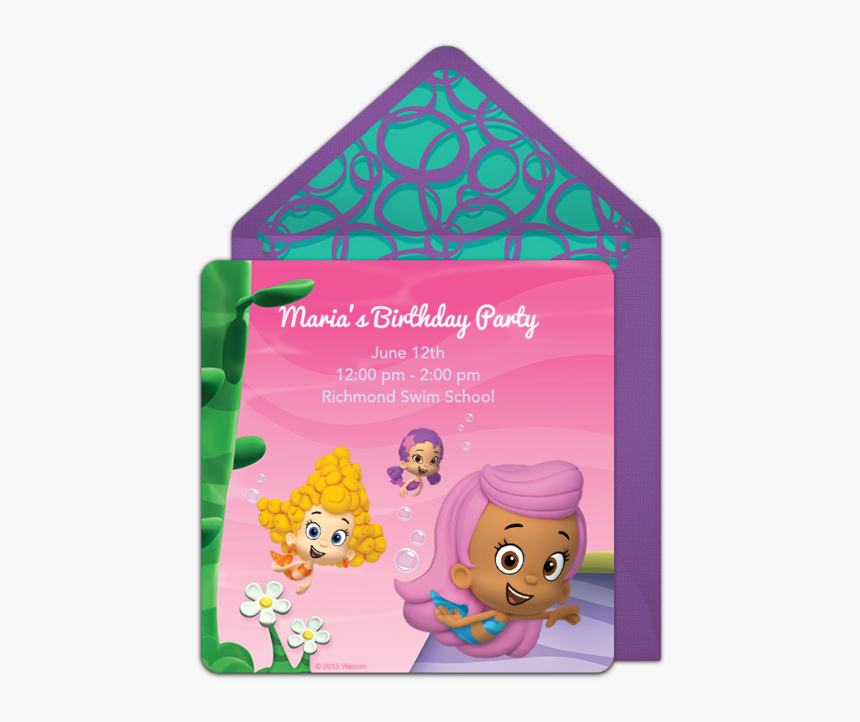 Bubble Guppies Party Invitations, HD Png Download, Free Download
