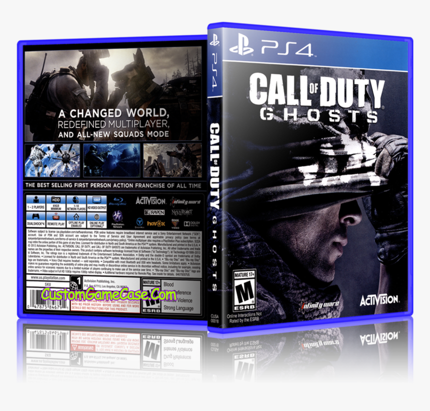 Call Of Duty Ghosts - Call Of Duty Ghosts Ps4 Cover, HD Png Download, Free Download