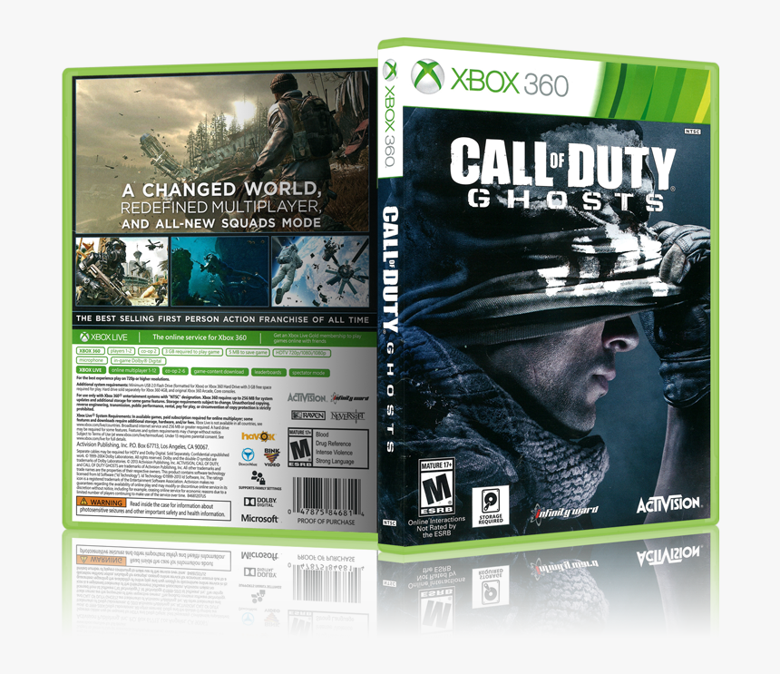 Call Of Duty Ghosts Xbox 360 Cover, HD Png Download, Free Download