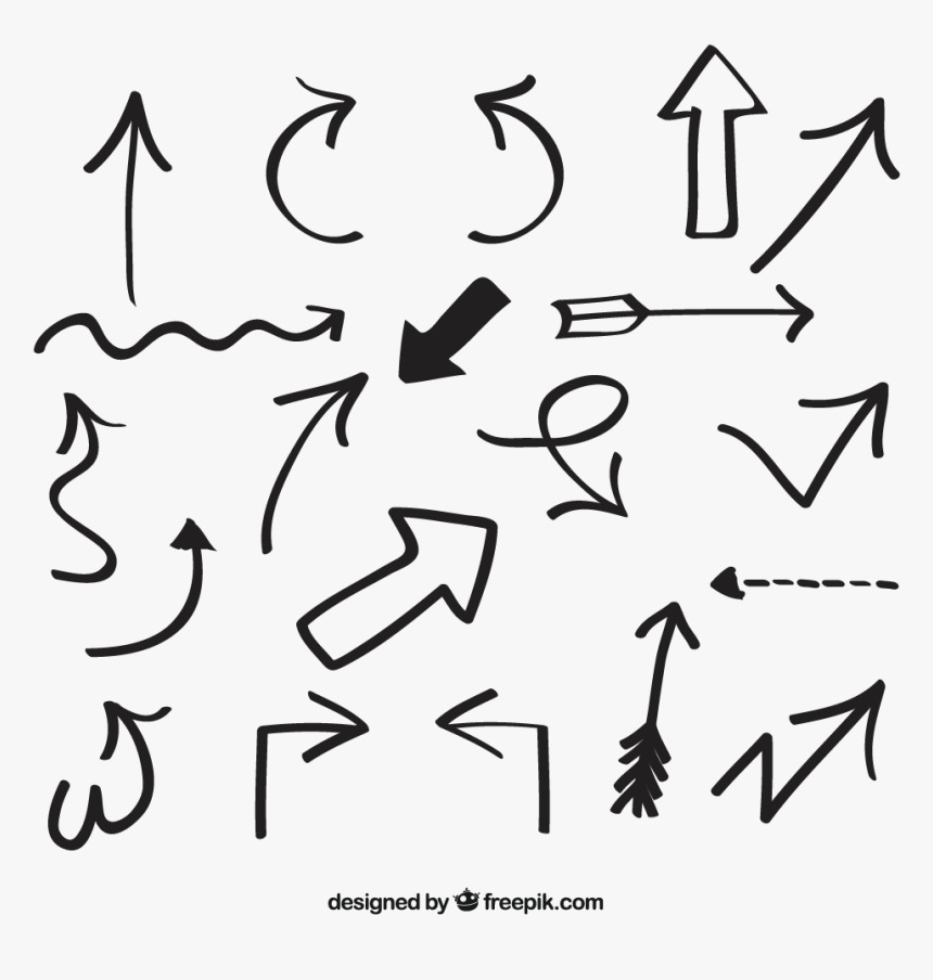 Euclidean Hand-drawn Vector Arrows Arrow Free Frame - Handdrawn Arrow Vector Png, Transparent Png, Free Download