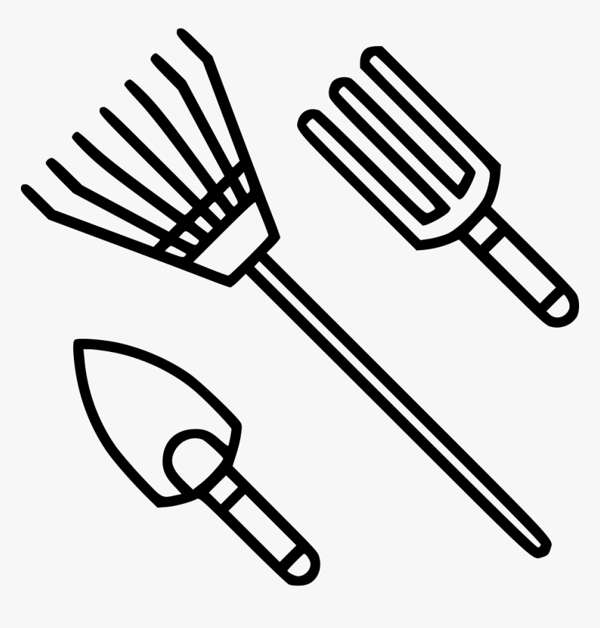 Garden Tools Black And White Gardening Tools Clip Art Hd Png Download Kindpng