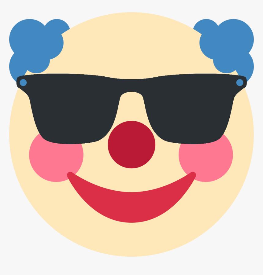 Sunglasses Clown Discord Emoji Sad Clown Emoji Hd Png Download Kindpng