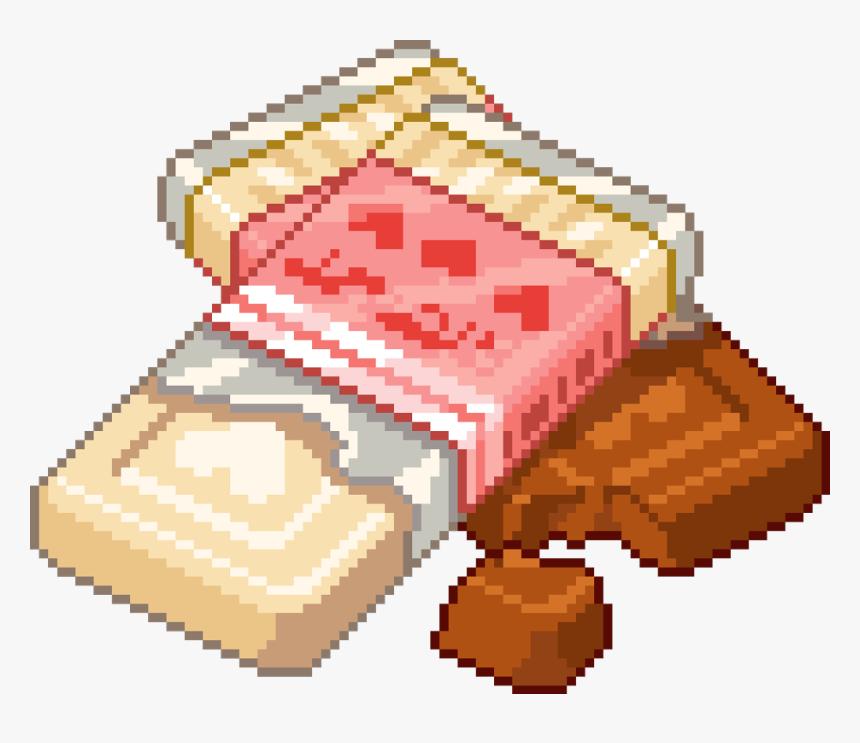 #pixel #cute #kawaii #chocolate #bar #food #freetoedit - Kawaii Food Pixel Png, Transparent Png, Free Download
